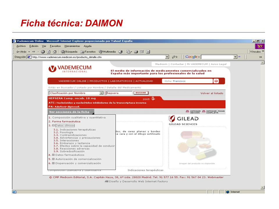 Ficha técnica: DAIMON