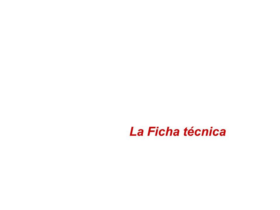 La Ficha técnica