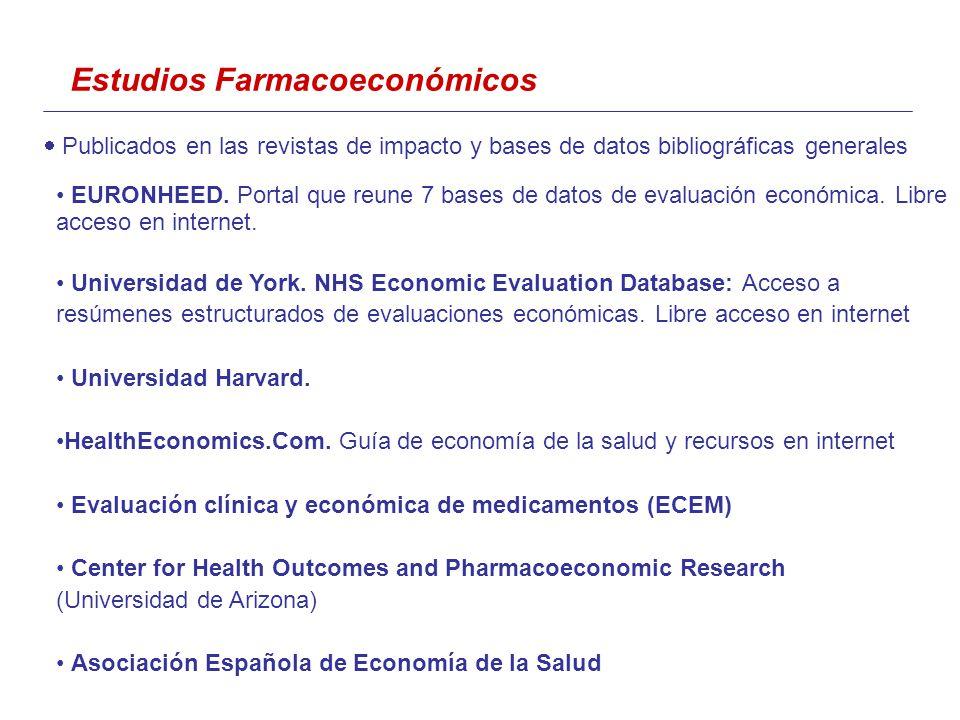 Publicados en las revistas de impacto y bases de datos bibliográficas generales EURONHEED.