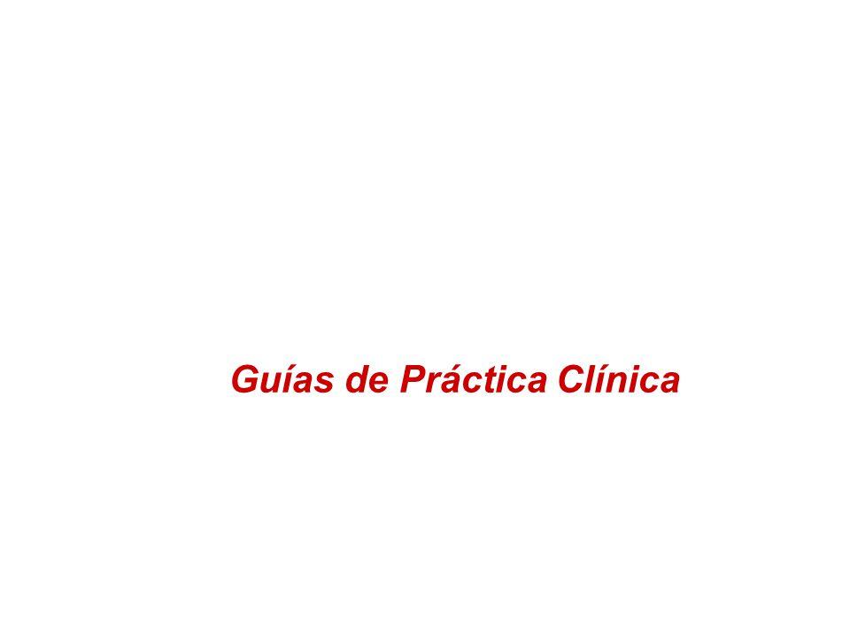 Guías de Práctica Clínica