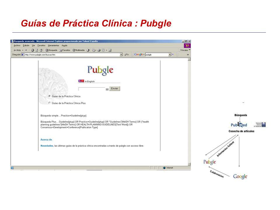 Guías de Práctica Clínica : Pubgle