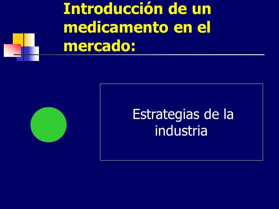 Introducción de un medicamento en el mercado: Estrategias de la industria