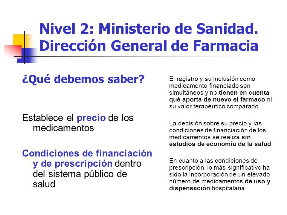 Nivel 2: Ministerio de Sanidad.