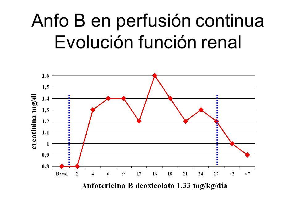 Anfo B en perfusión continua Evolución función renal