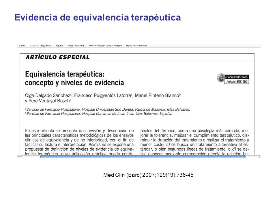 Med Clín (Barc) 2007;129(19):736-45.