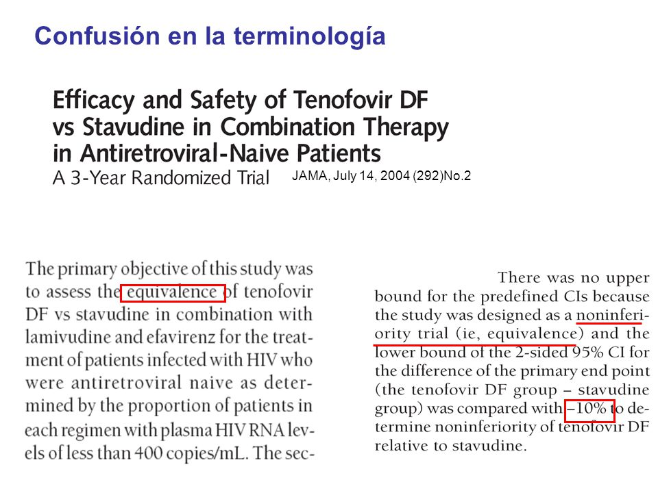 Confusión en la terminología JAMA, July 14, 2004 (292)No.2