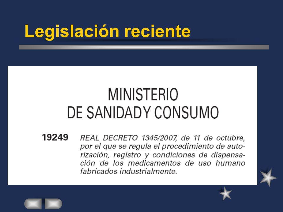 Legislación reciente
