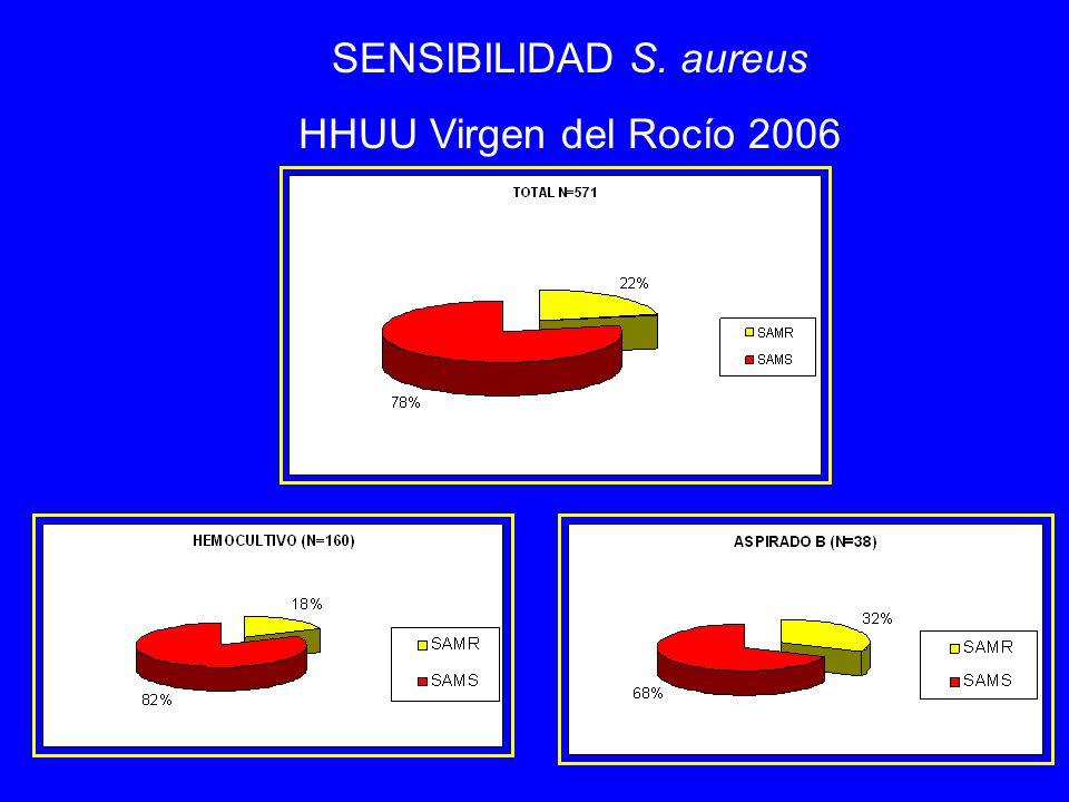 SENSIBILIDAD S. aureus HHUU Virgen del Rocío 2006