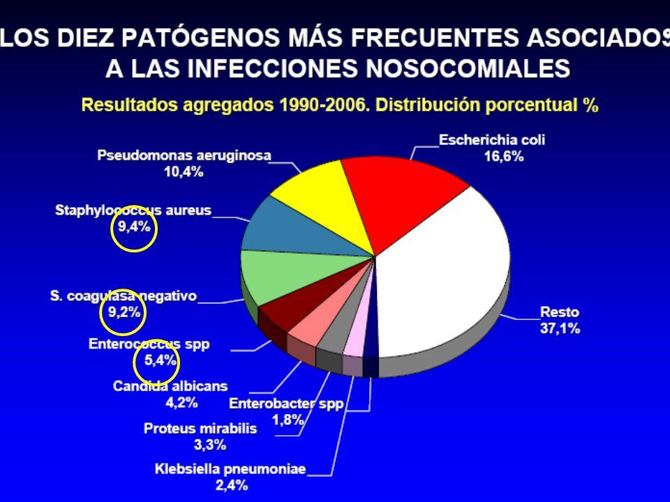VIRA 2006-SAMR R a ciprofloxacino 96% R a eritromicina76% S a teicoplanina100% S a vancomicina99,7% S a rifampicina97% S a cotrimoxazol92% S a linezolid99,7%