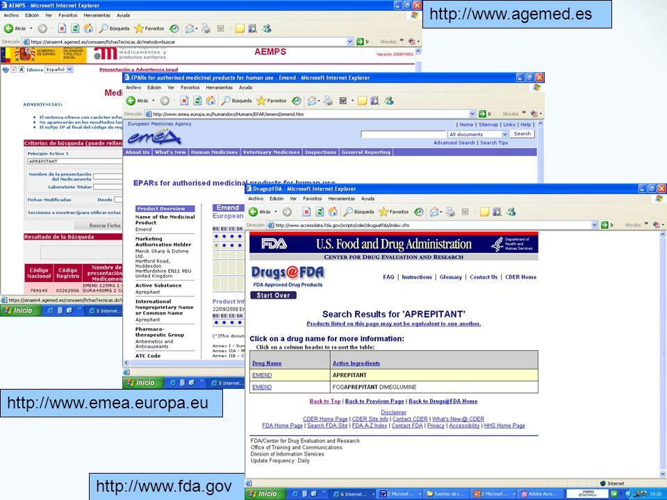 http://www.agemed.es http://www.emea.europa.eu http://www.fda.gov