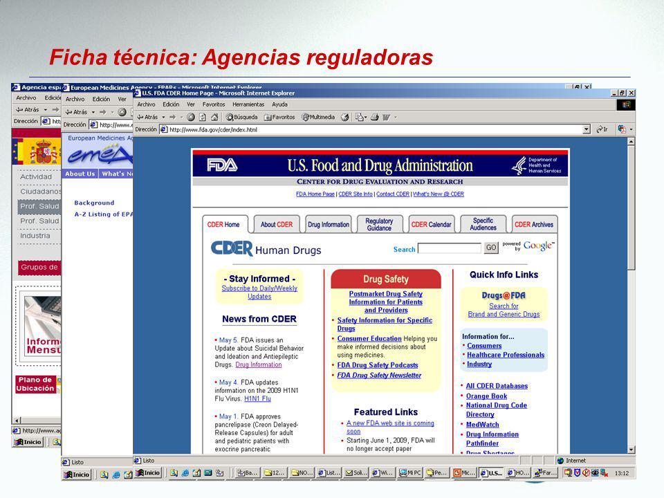 Ficha técnica: Agencias reguladoras