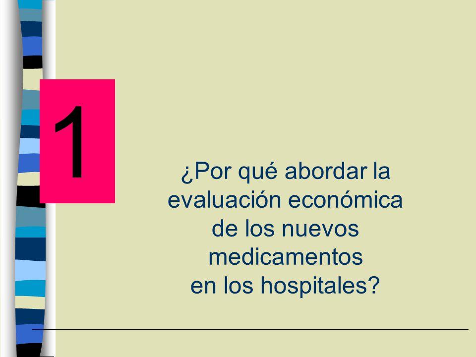 ¿Por qué abordar la evaluación económica de los nuevos medicamentos en los hospitales? 1
