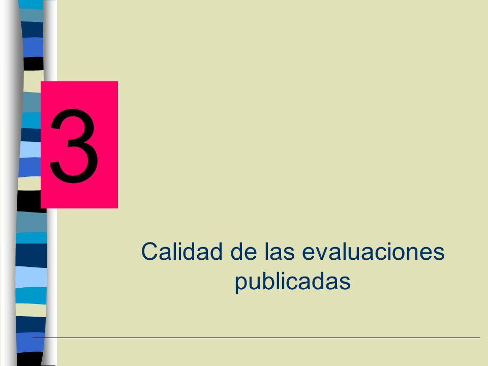 Calidad de las evaluaciones publicadas 3