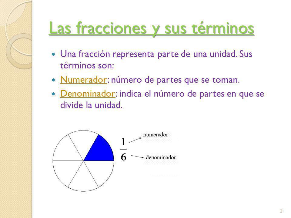 Fracciones equivalentes Dos fracciones son equivalentes si representan la misma parte de la unidad.