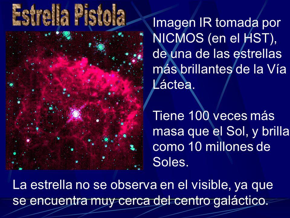 Imagen IR tomada por NICMOS (en el HST), de una de las estrellas más brillantes de la Vía Láctea. Tiene 100 veces más masa que el Sol, y brilla como 1