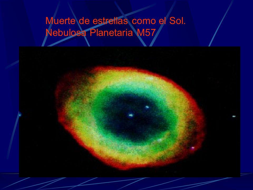 Muerte de estrellas como el Sol. Nebulosa Planetaria M57