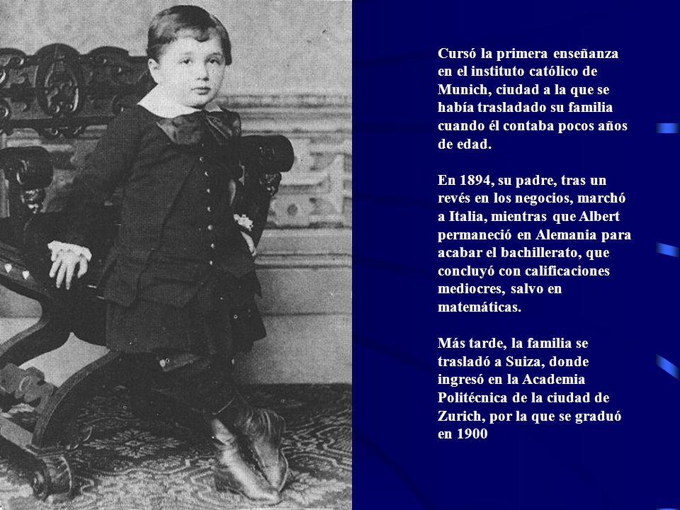Cursó la primera enseñanza en el instituto católico de Munich, ciudad a la que se había trasladado su familia cuando él contaba pocos años de edad. En