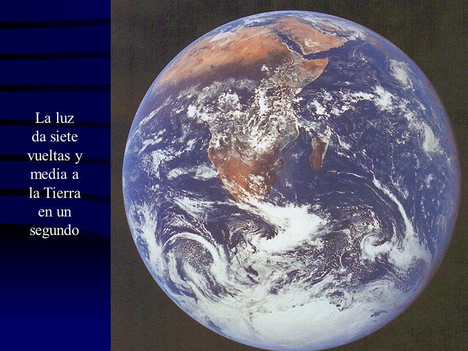 La luz da siete vueltas y media a la Tierra en un segundo