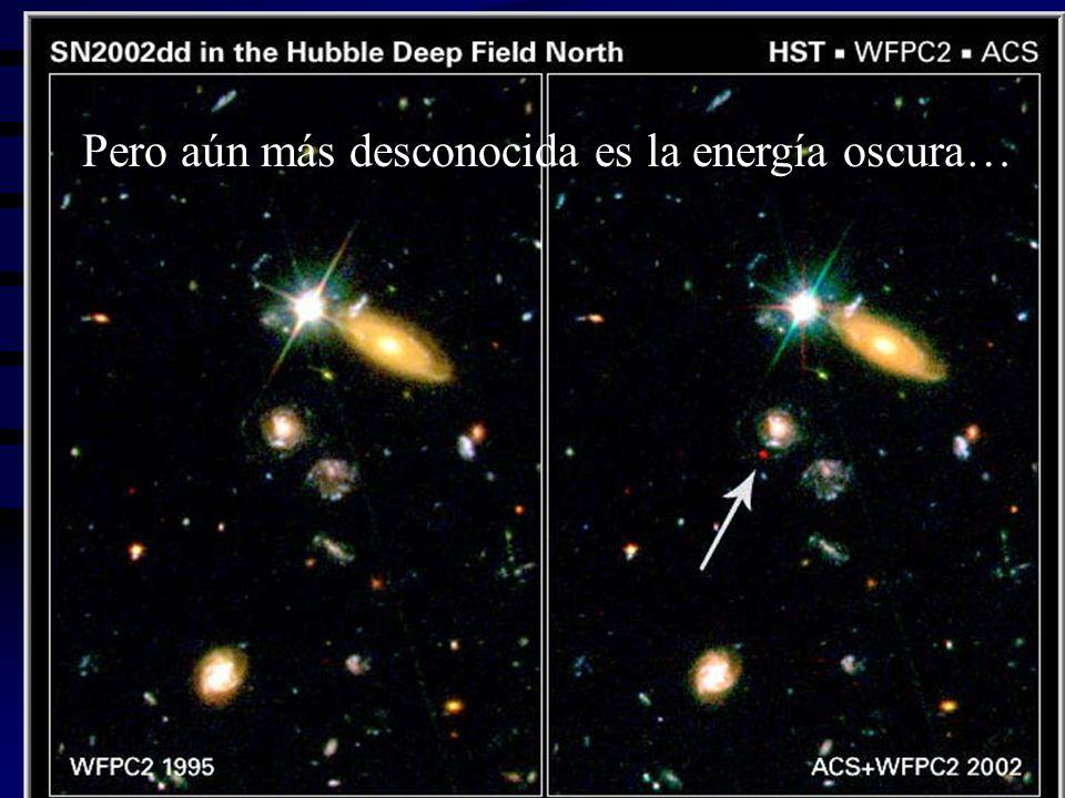 Pero aún más desconocida es la energía oscura…