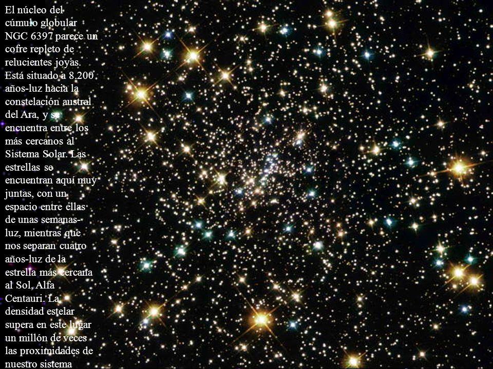 El núcleo del cúmulo globular NGC 6397 parece un cofre repleto de relucientes joyas. Está situado a 8.200 años-luz hacia la constelación austral del A