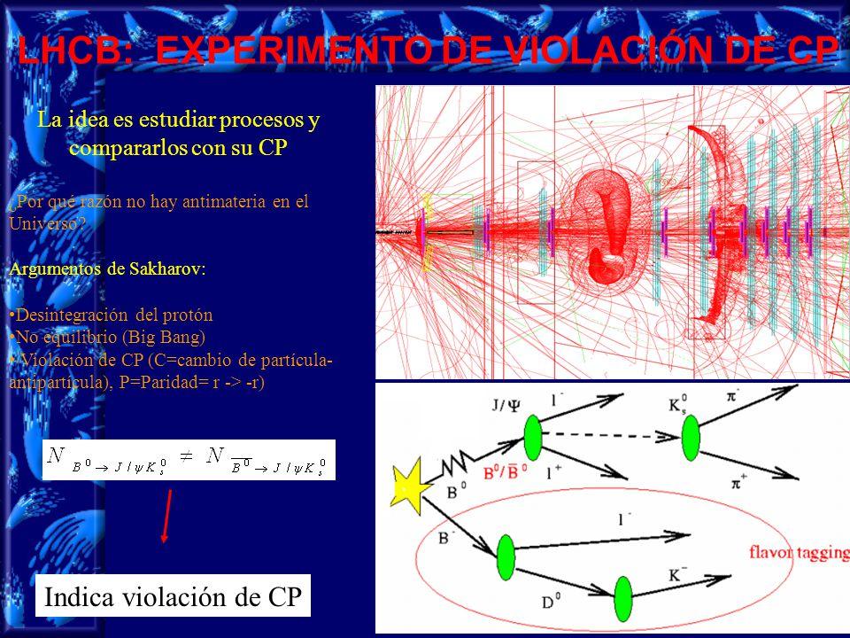 9 LHCB: EXPERIMENTO DE VIOLACIÓN DE CP ¿Por qué razón no hay antimateria en el Universo.