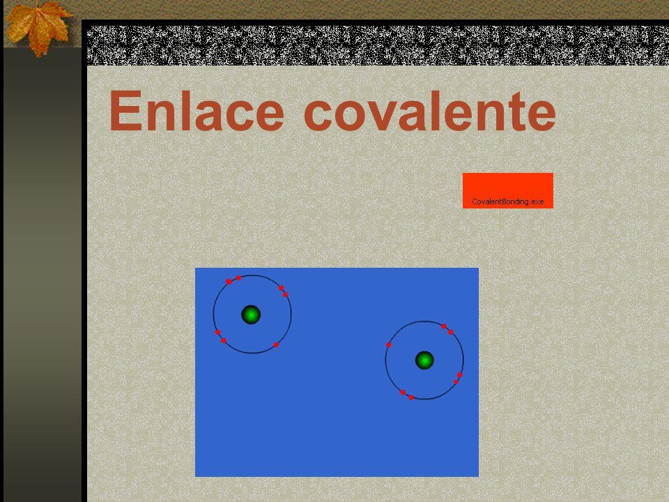 Puede ser: Covalente simple: Se comparten una pareja de electrones.