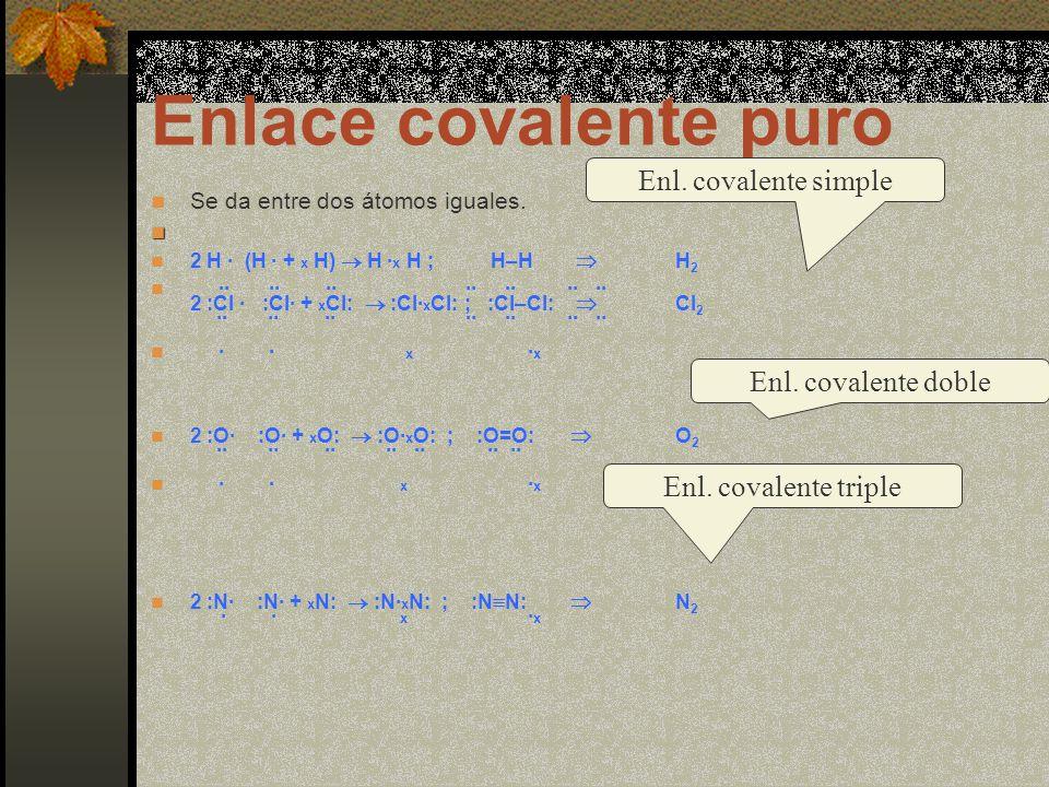 Enlace covalente puro