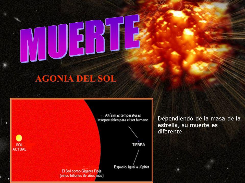 Aquí se muestra el recorrido sobre el diagrama H-R de una estrella del tipo solar, desde la etapa de proto estrella (estrellas presecuencia) hasta su