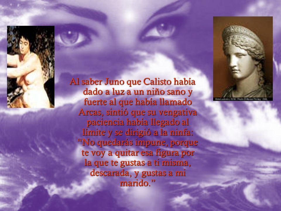 Una noche en que Diana y las ninfas se bañaban en un manantial, Calisto fue invitada a bañarse con el grupo. Ella intentó evitarlo para que, al desnud