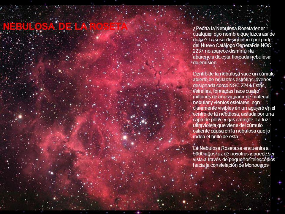¿Podría la Nebulosa Roseta tener cualquier otro nombre que luzca así de dulce.