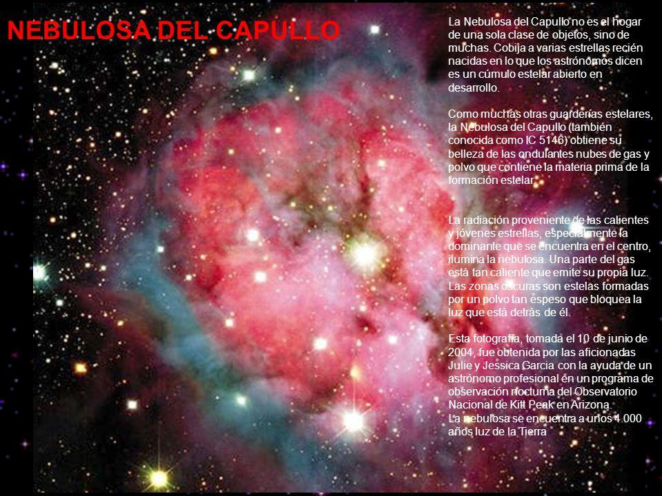 NEBULOSA DEL CAPULLO La Nebulosa del Capullo no es el hogar de una sola clase de objetos, sino de muchas.