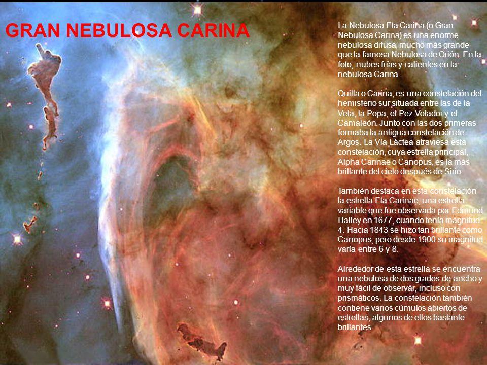 NEBULOSA STRINGAY Mientras la superficie se expande y enfría, en el centro se va produciendo un núcleo de Carbono.