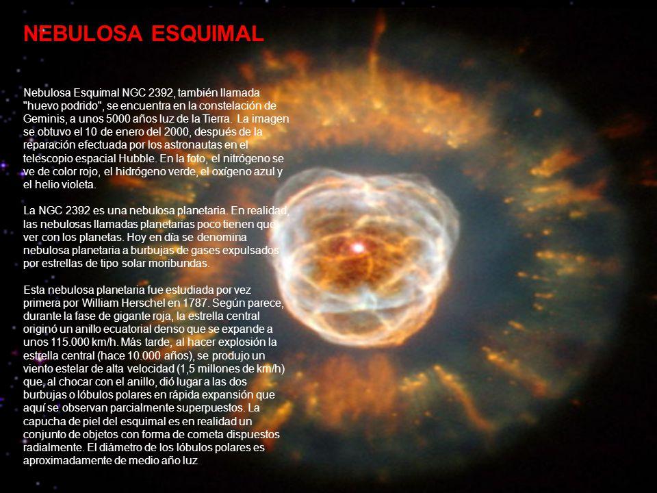 NEBULOSA DE LA ROSETA La nebulosa Roseta es una nebulosa de emisión localizada a unos 3000 años luz de distancia.