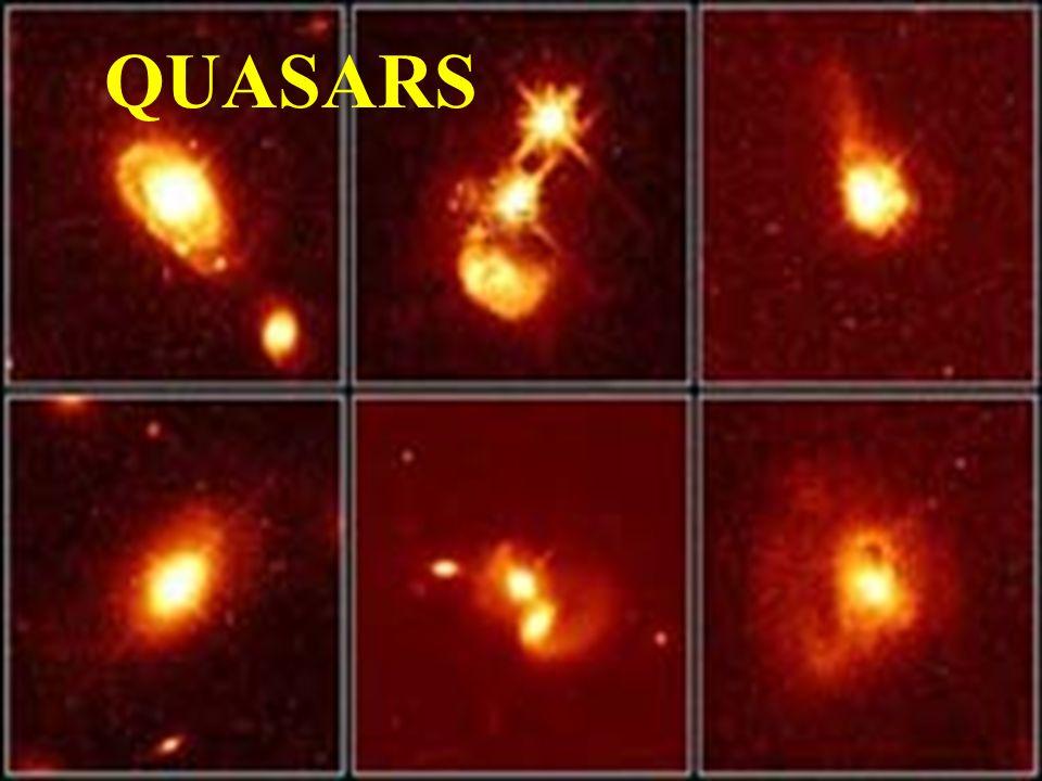 La vida de los quasars es probablemente mucho más corta que la de las galaxias, y gran parte de los que hoy vemos han desaparecido hace mucho tiempo.