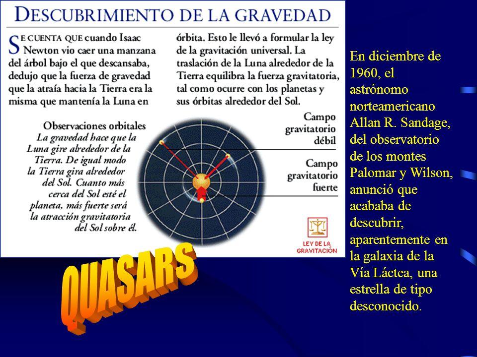 En diciembre de 1960, el astrónomo norteamericano Allan R.