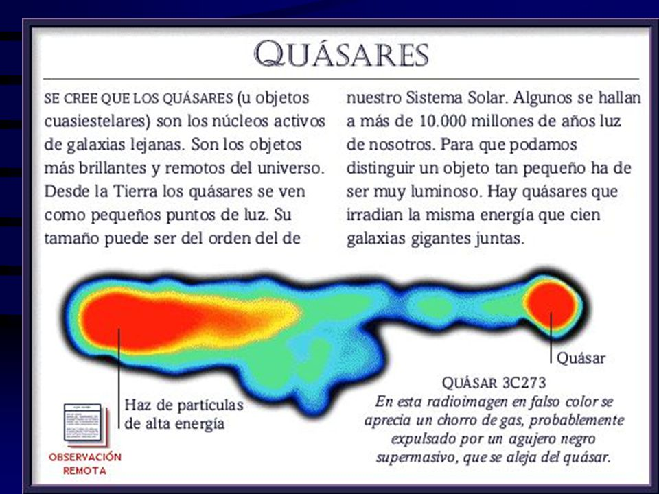 A1 principio se había estimado que su energía era equivalente a la explosión de 10 millones de soles, pero se supone que dicha cifra debe elevarse hasta diez mil millones, lo que es absurdo, porque ni la más grande de las galaxias observadas contiene tantos soles