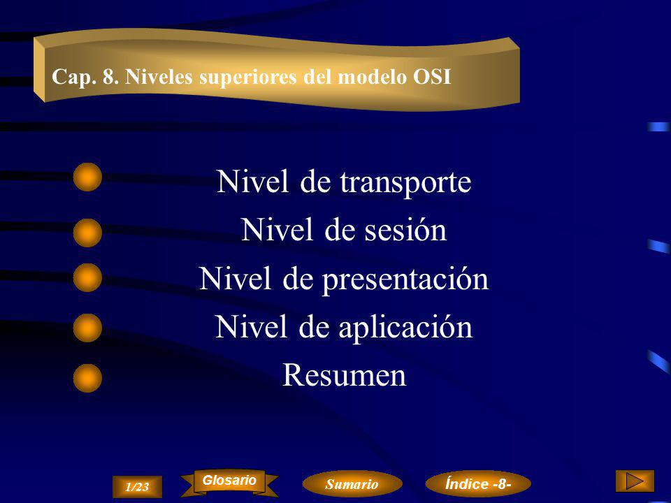 El nivel de red es el encargado del transporte de los paquetes de datos.