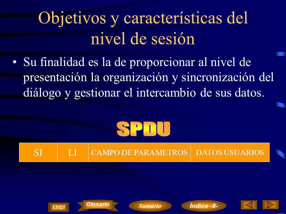 Nivel de Sesión Objetivos y características del nivel de sesión.