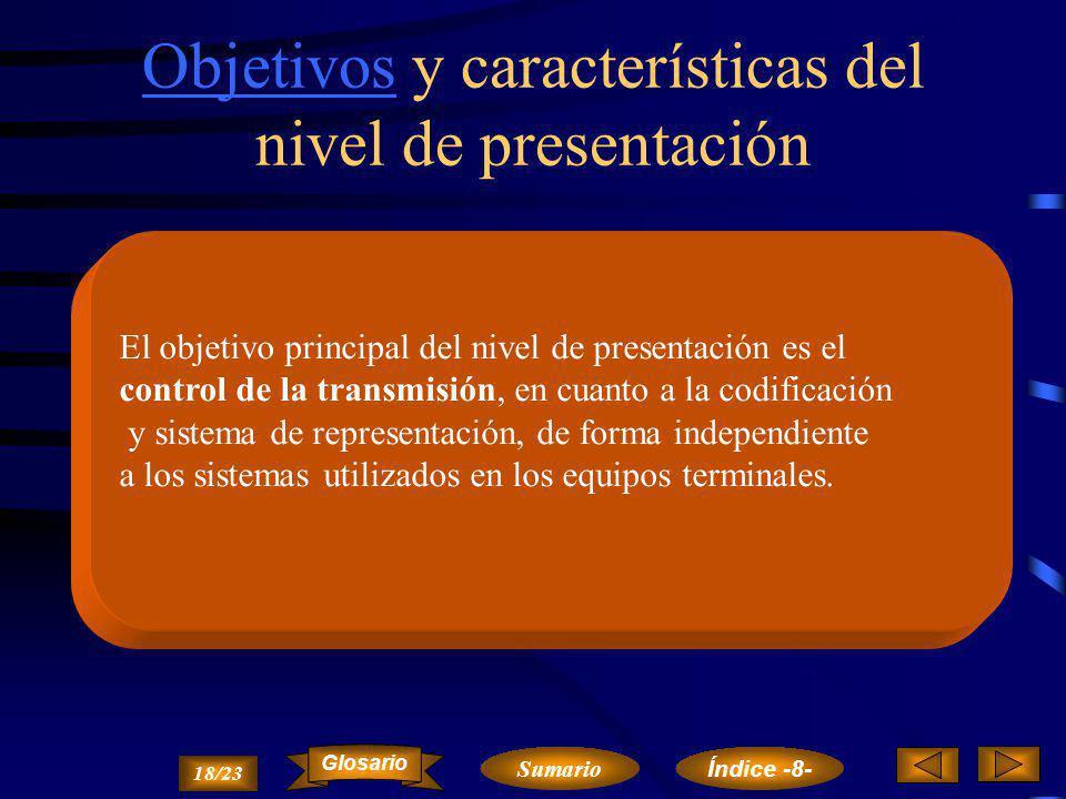 Nivel de Presentación Objetivos y características del nivel de presentación.Objetivos y características del nivel de presentación. Servicios del nivel