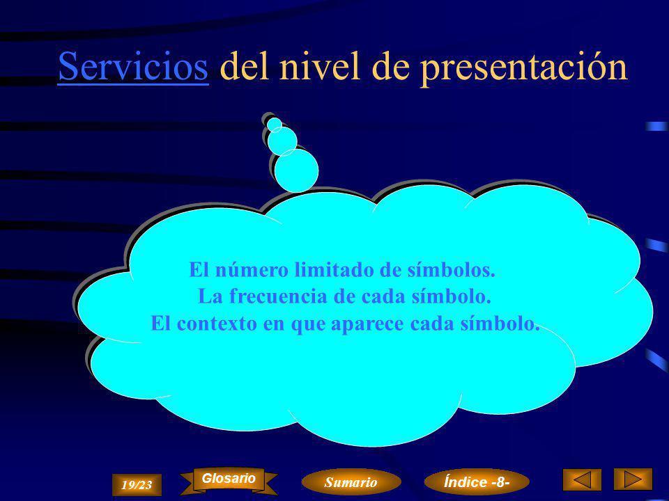 ObjetivosObjetivos y características del nivel de presentación El objetivo principal del nivel de presentación es el control de la transmisión, en cua