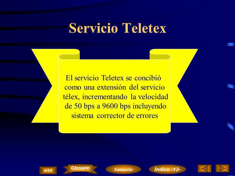 Servicio Télex Es un servicio final de Telecomunicación, no es un servicio de valor añadido. El equipo terminal que permite la comunicación entre abon