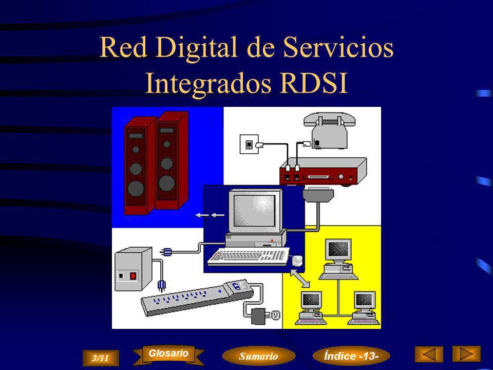 Red Digital de Servicios Integrados RDSI La RDSI proporciona la capacidad a los usuarios de acceder fácilmente a la red y permite integrar y compartir