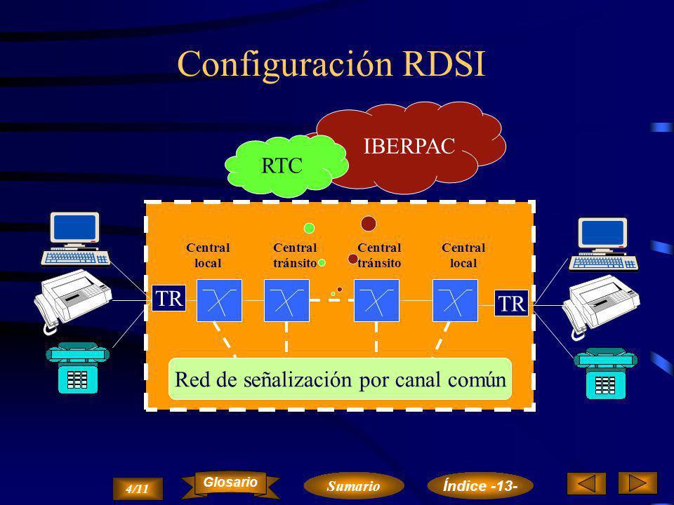 Red Digital de Servicios Integrados RDSI 3/11 Sumario Glosario Índice -13-