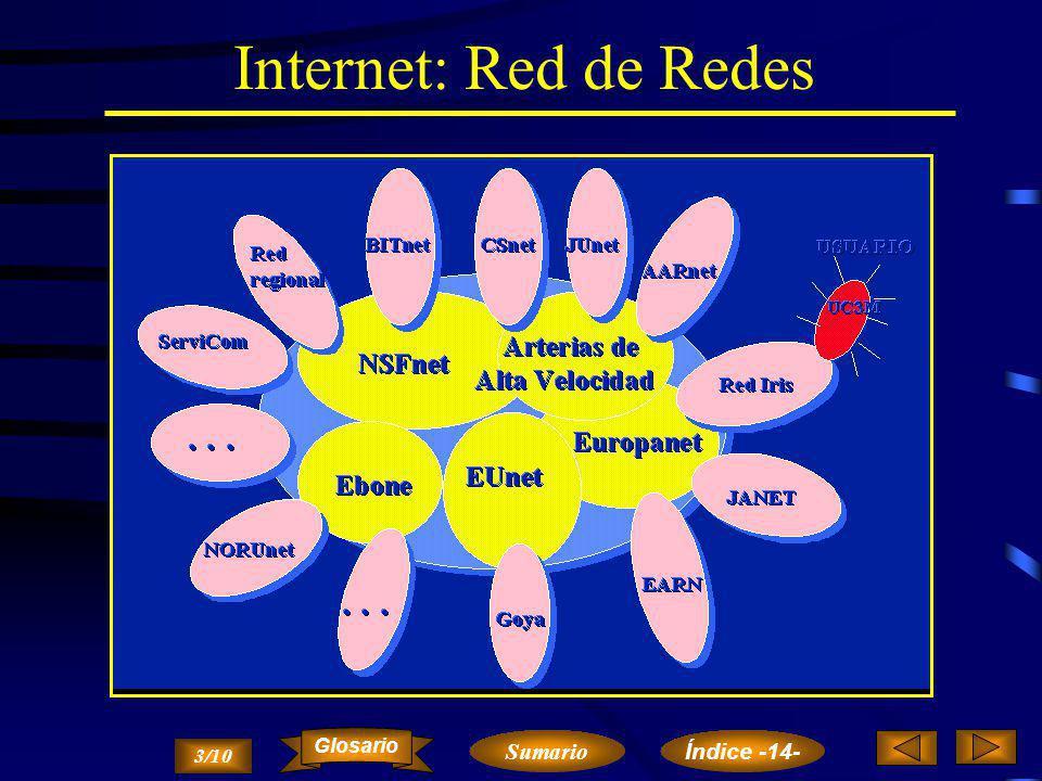 El Ordenador Planetario A través de la red universitaria podemos acceder a la mayoría de las redes teleinformáticas de Investigación y Desarrollo que