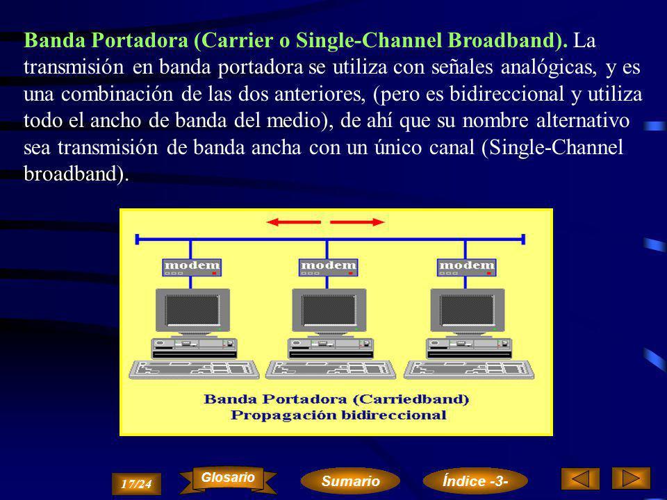 Banda Ancha (Broadband). Se denomina transmisión en banda ancha a la propagación simultánea por el mismo medio físico de diferentes señales analógicas