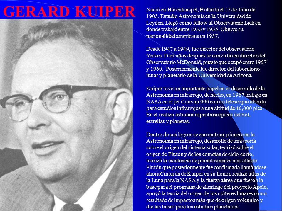 Nació en Harenkarspel, Holanda el 17 de Julio de 1905. Estudio Astronomía en la Universidad de Leyden. Llegó como fellow al Observatorio Lick en donde