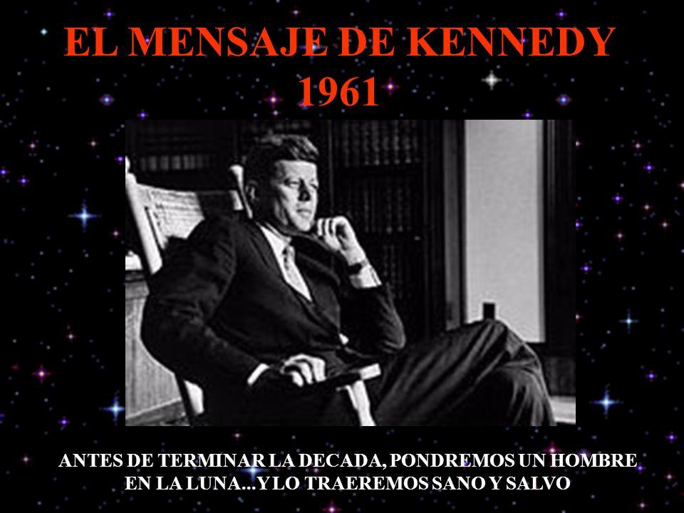 EL MENSAJE DE KENNEDY 1961 ANTES DE TERMINAR LA DECADA, PONDREMOS UN HOMBRE EN LA LUNA...Y LO TRAEREMOS SANO Y SALVO