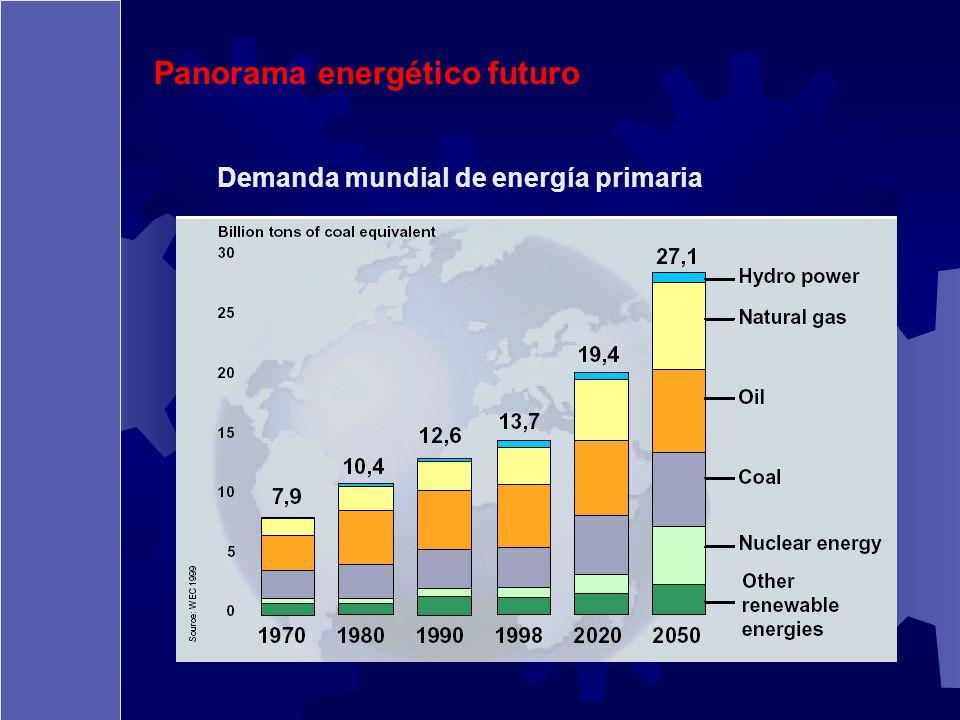 Demanda mundial de energía primaria Panorama energético futuro
