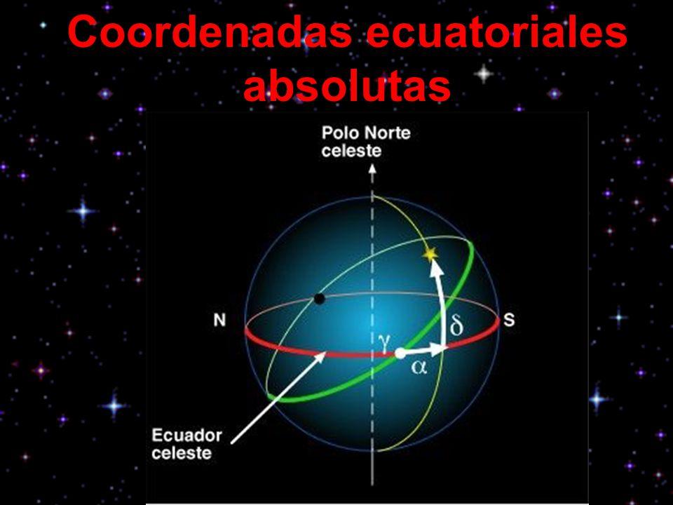 Coordenadas ecuatoriales absolutas