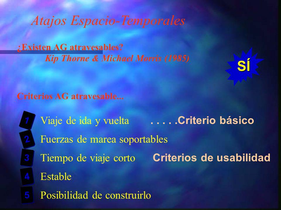 Atajos Espacio-Temporales ¿Existen AG atravesables.